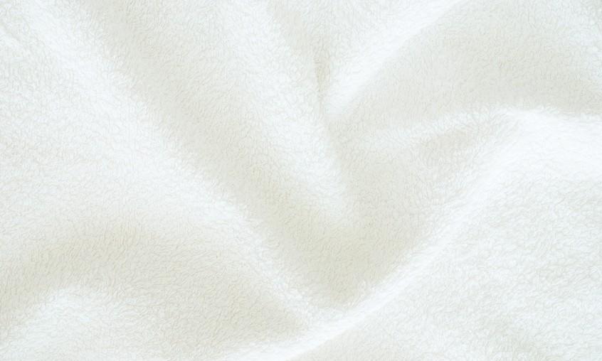 weißes Mikrofasertuch Nahaufnahme